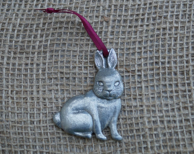 Bunny Ornament Christmas Danforth Pewter Made in the USA