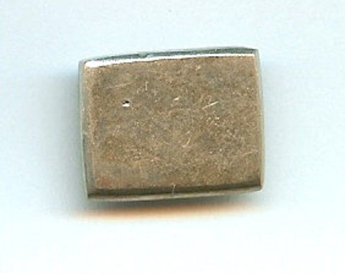 Danforth Button: Rectangle  pewter button