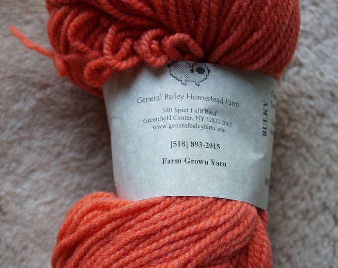 Melon bukly soft wool 2 ply yarn from our American farm, free shipping