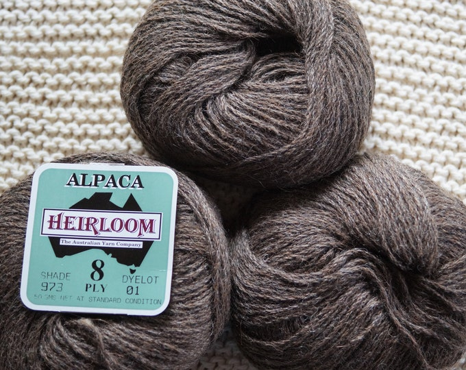 Alpaca yarn brown worsted weight sale price free shipping offer