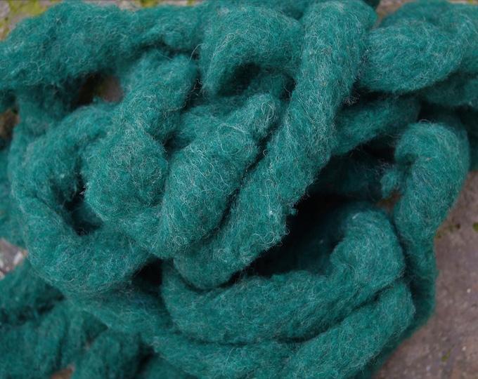 wool roving mountain green from Bartlettyarns