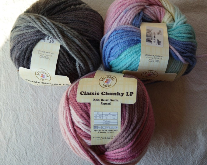Universal Chunky wool and acrylic sale yarn, free shipping offer