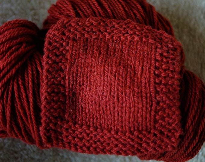 Terra Cotta worsted weight soft wool yarn from our American farm free shipping offer