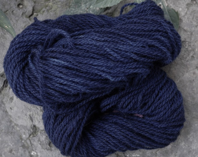 Navy Blue sport  2 ply wool yarn mini skeins from our American farm free shipping offer