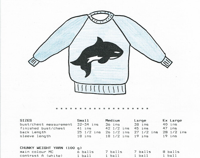 Whale knitting pattern for adults worsted weight yarn