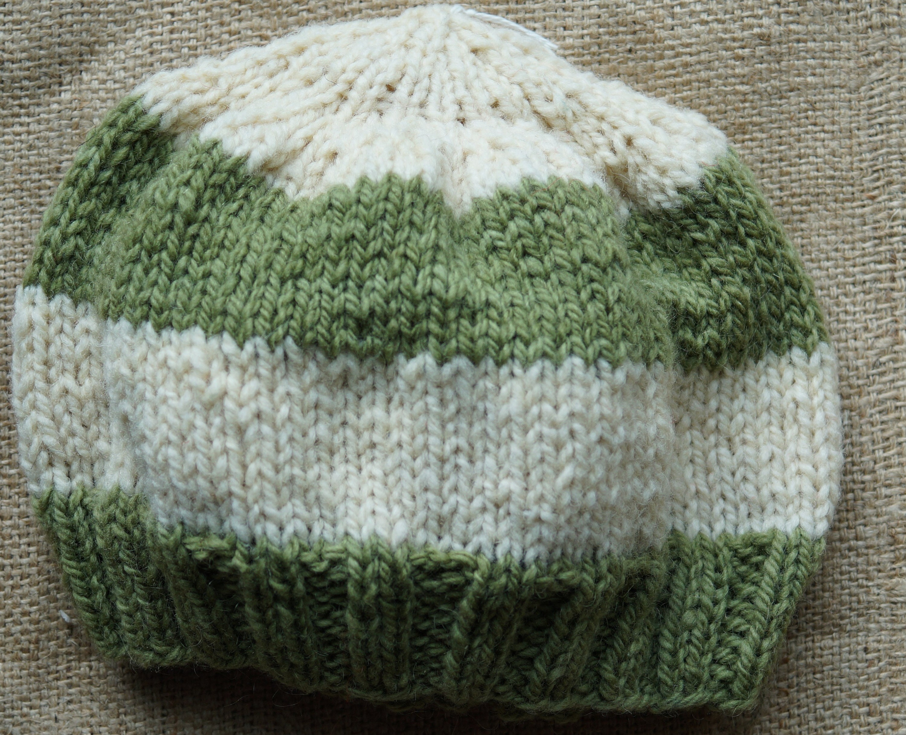 4d4a835bb3a53 Childrens Hand Knitted Hats - Parchment N Lead