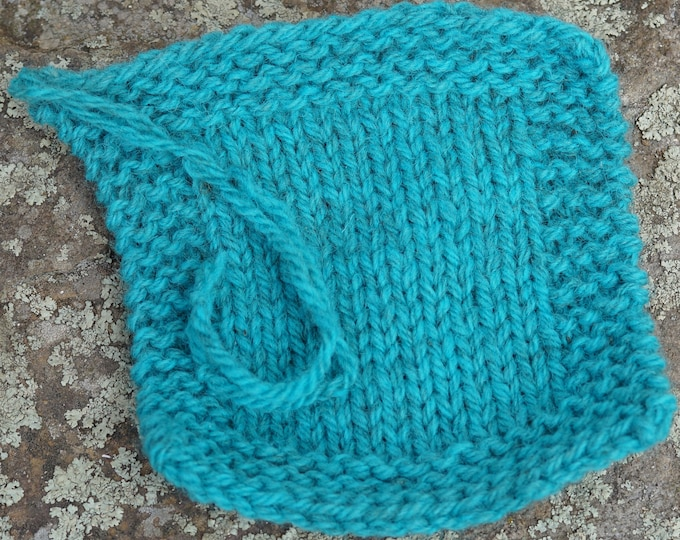 worsted weight yarn: Aqua worsted weight wool kettle dyed yarn from our farm made in the USA from American wool