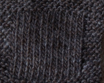 Dark Gray wool undyed double twist lopi style farm yarn from our USA farm free shipping offer