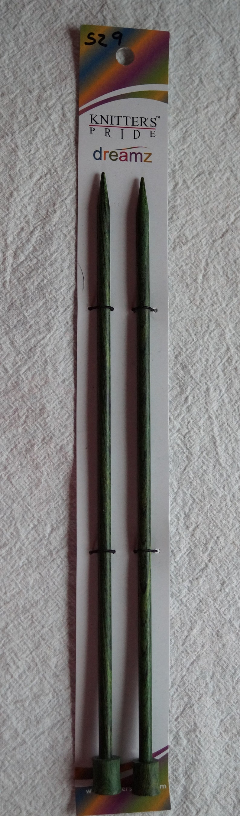 Dreamz 14 inch single point colored wood knitting needles free shipping offer