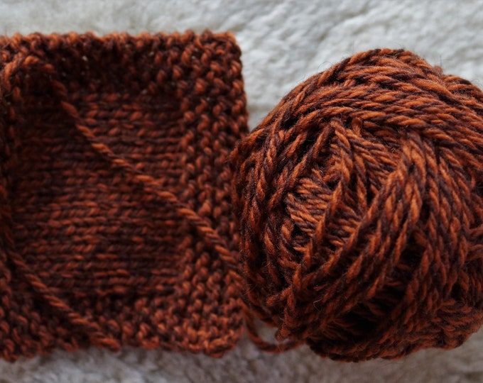 Rusty Ragg wool 3 ply worsted weight yarn from our American farm free shipping offer