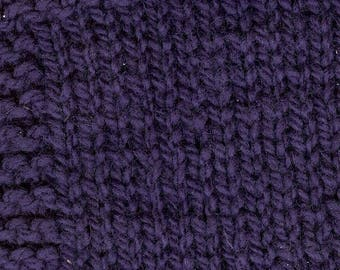 worsted weight yarn: PLUM 3ply wool worsted weight kettle dyed yarn from our USA farm
