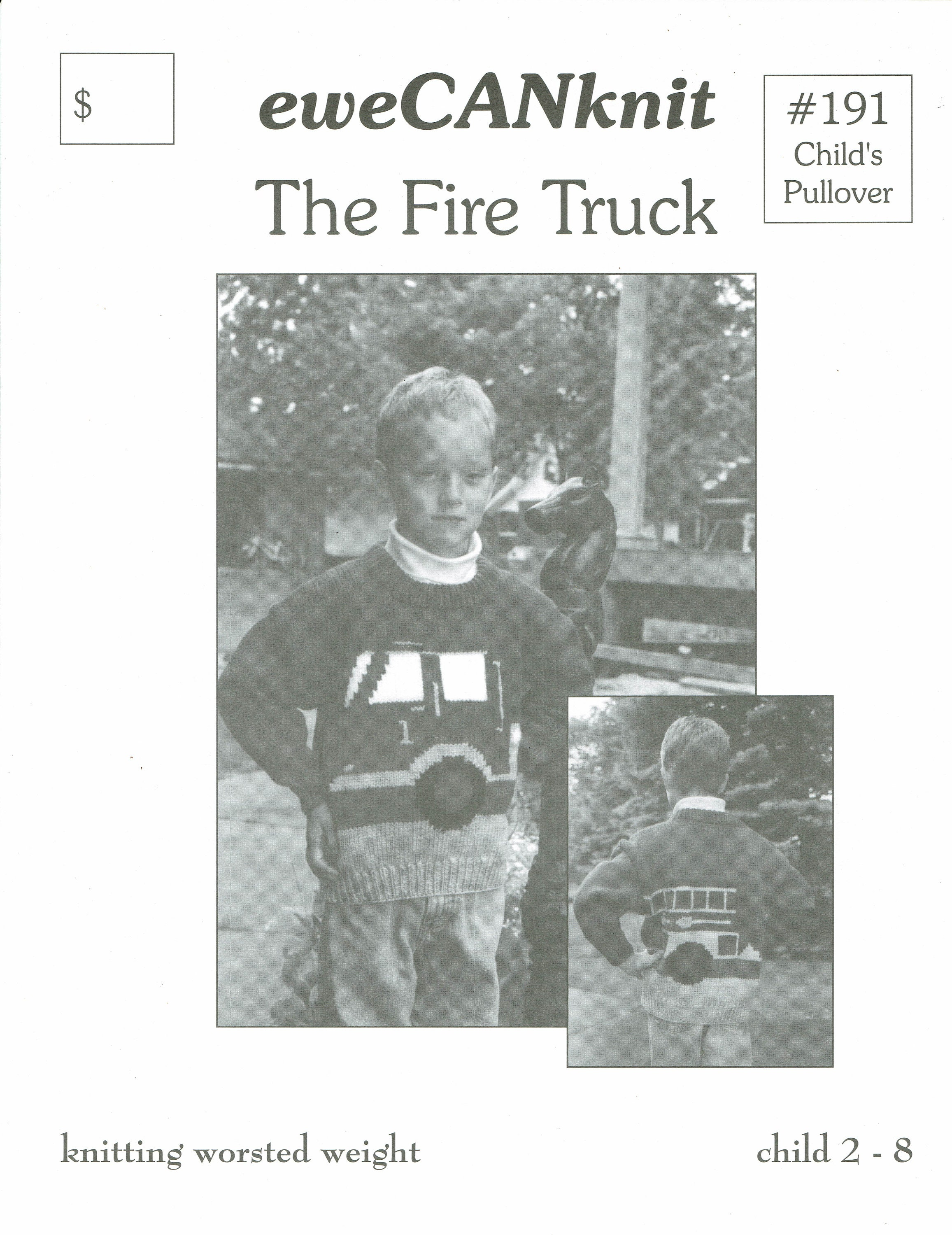 The Fire Truck child's knitting pattern from eweCanknit uses