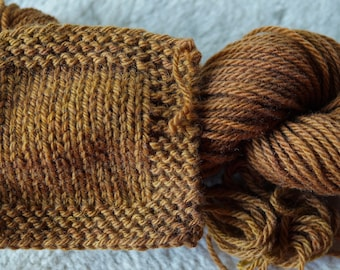 Toffee worsted weight 3 ply soft wool Farm Yarn from our American farm free shipping offer