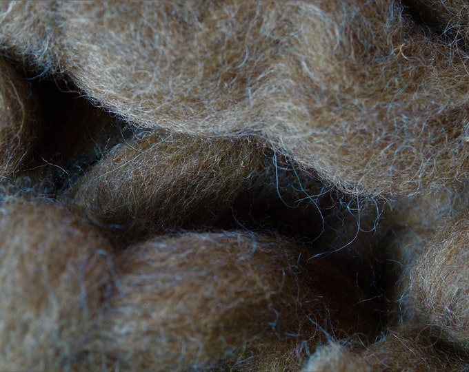 Moorit Shetland wool top sold by the ounce free shipping offer