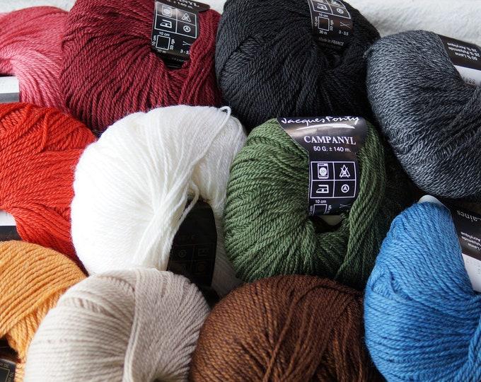 Campanyl Sock Yarn wool polymide acrylic blend  machine washable free shipping offer  from Crystal Palace Yarns