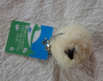 Pet Sheep Key Chains real fleece covered keychain made in the USA