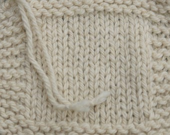 bulky weight yarn: Bulky White Sheep  undyed 3 ply 150 yd skein Wool Yarn
