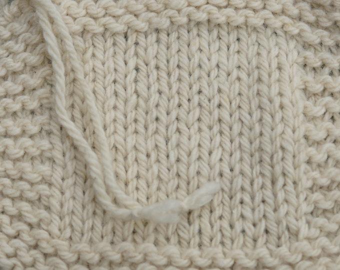 Bulky White Sheep  3 ply soft wool yarn undyed farm yarn from our American farm Free shipping offer