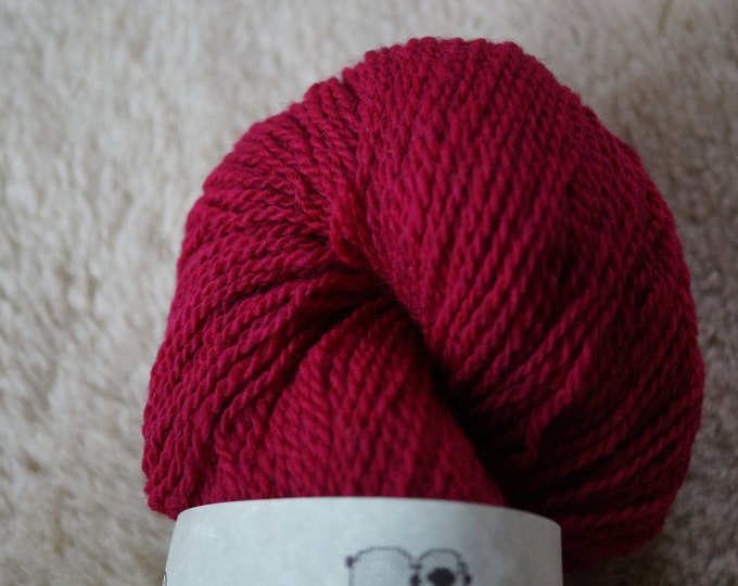 Magenta sport weight 2 ply wool yarn American farm grown free shipping made in the USA