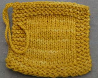 worsted weight yarn: Mustard 3 ply worsted weight wool yarn
