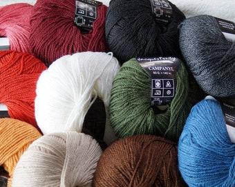 Campanyl sock yarn more colors wool polamide acrylic machine washable from Crystal Palace Yarns
