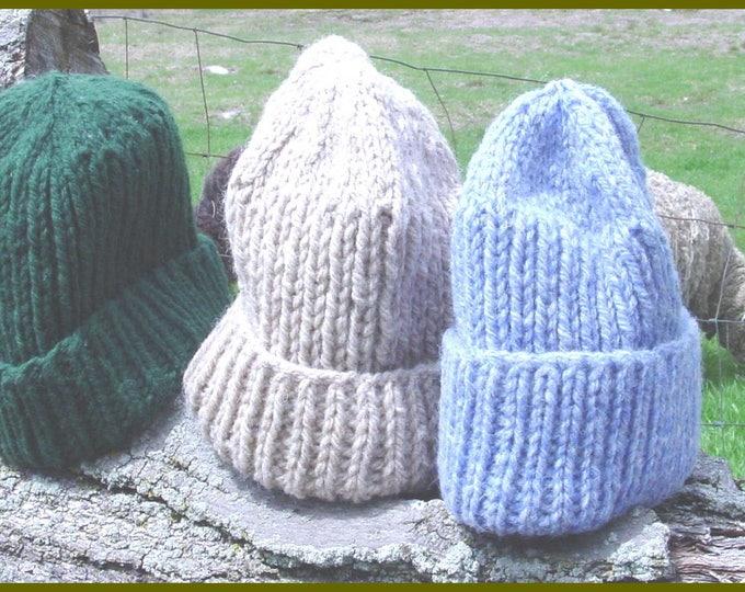 Bulky Barn Hat PDF Easy Knitting Pattern, family sizing, digital
