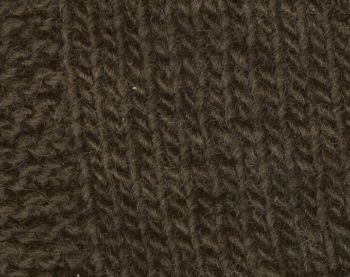 Brown Logwood 2 ply worsted weight 230 yards soft wool kettle dyed yarn from our USA farm Free Shipping