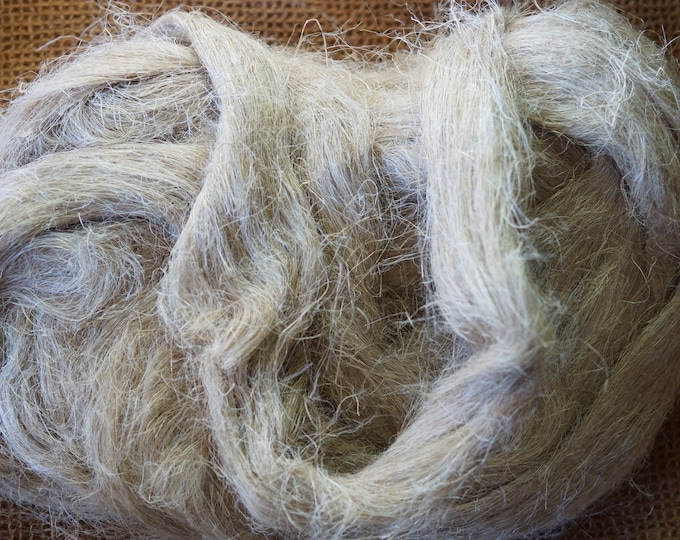 Hemp Top for hand spinning natural color sale priced free shipping offer
