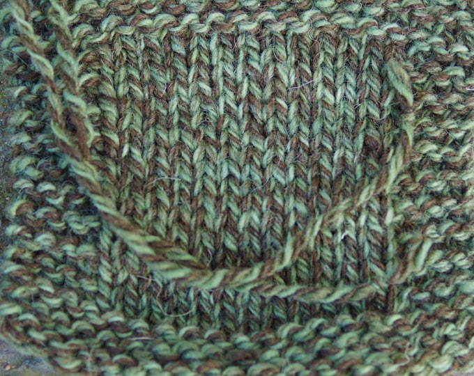 Olive Ragg 3 ply soft wool yarn from our USA farm, free shipping offer