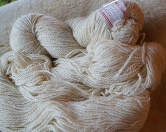 sport weight: Antartic White  wool & mohair Peace Fleece sale yarn
