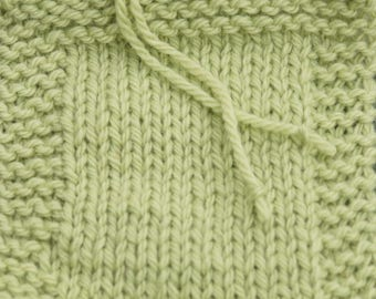 worsted weight yarn: Celadon 2 ply wool worsted weight kettle dyed farm yarn