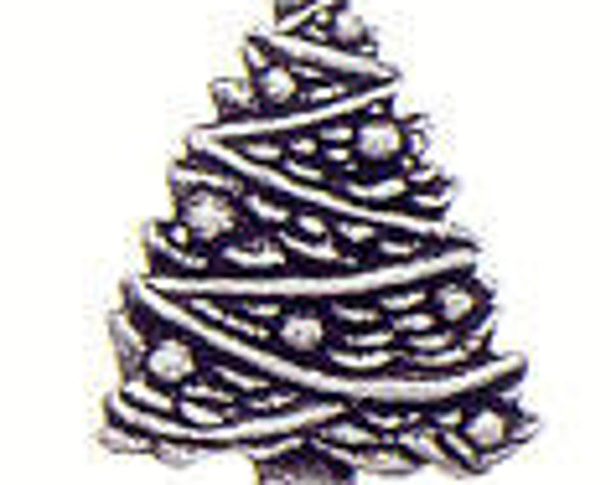 Danforth Button: Christmas Tree  pewter shank button