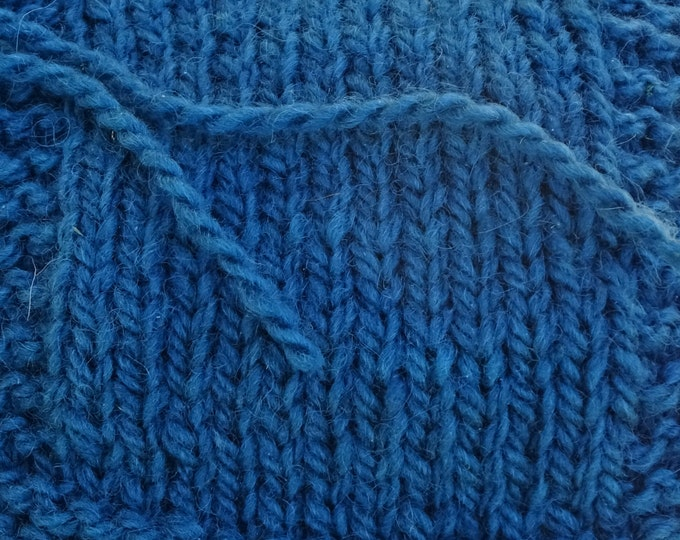 worsted weight yarn: TEAL 2 ply worsted weigh tsoft wool kettle dyed  yarn from our American farm