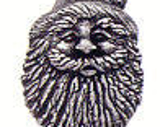 Danforth Button: Santa Claus  pewter  shank button