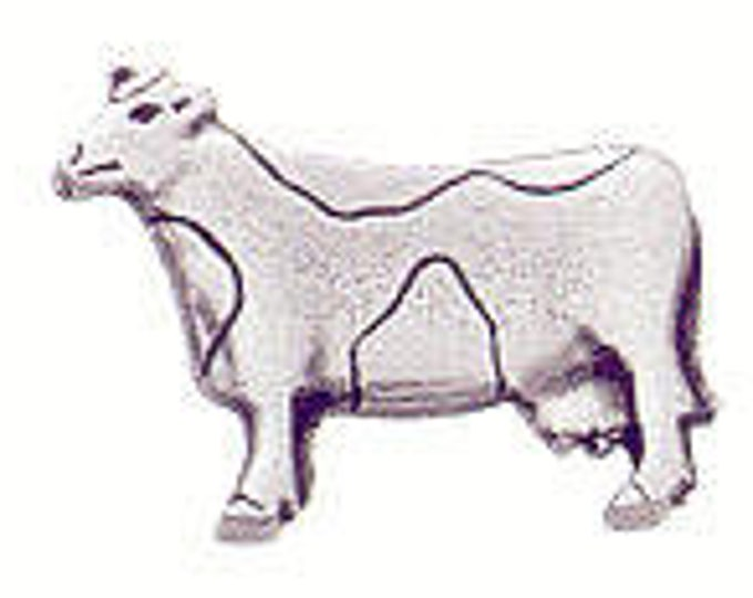 Danforth Button: COW  pewter shank button
