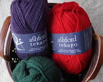 Ashford Tekapo wool yarn worsted 2 ply sale