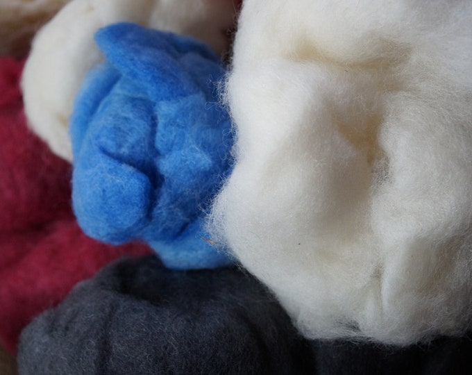Hot Soxx wool nylon fiber batting for spinning your sox or felting bag of 3 colors free shipping offer