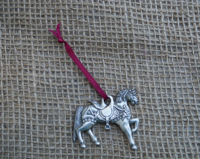 Carousel Horse Ornament from Danforth Pewterers. Made in the USA