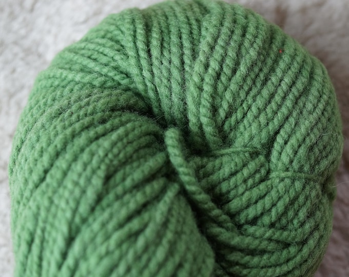 Spring Green bulky soft wool yarn from our American farm, free USA shipping offer