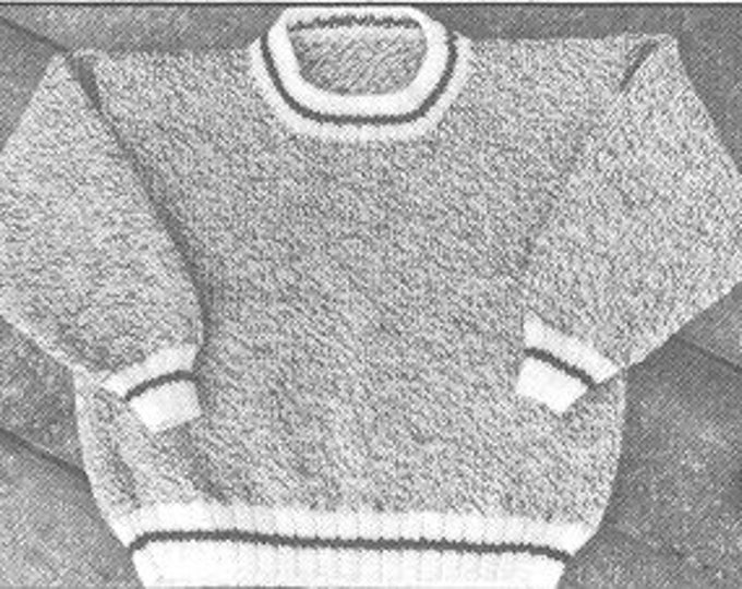 Barn Sweater knitting pattern for adult easy to knit