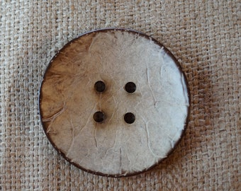 Wood Button: Large Coconut wood button