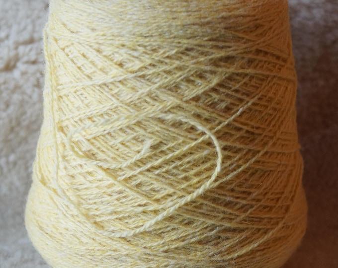 sport weight cone:  Gold Heather 2 ply wool Fisherman yarn from Bartlettyarn sale
