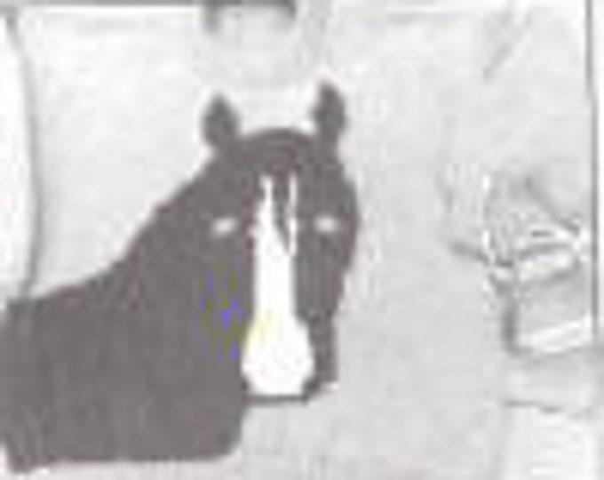 eweCanknit pattern 053: The Horse child's knitting pattern sizes 4-8 uses worsted weght yarn