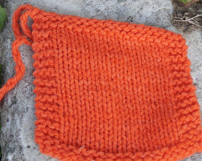 Melon 2 ply worsted weight wool yarn from our farm