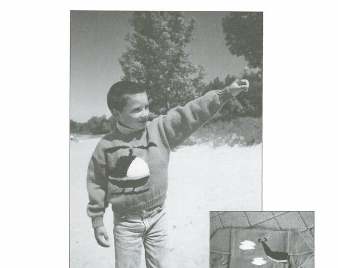 Helecopter Childs eweCanknit knitting pattern sizes 2-8. Uses worsted weight yarn.