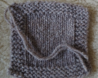 Medium gray sheep worsted weight 3 ply farm grown yarn from our small American farm free shipping offer
