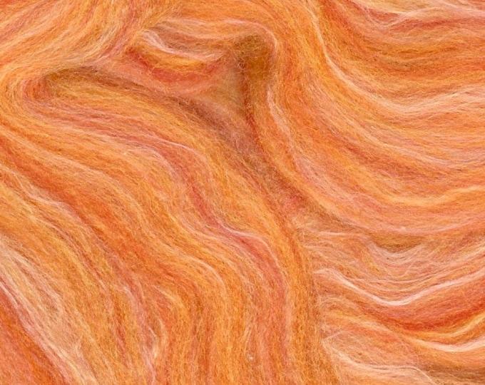Silk and Wool roving Mango 4 oz bag from Ashford to spin or felt