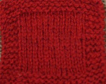 sport weight yarn: RED APPLE Sport weight 2 ply wool yarn from USA local farm self raised soft wool