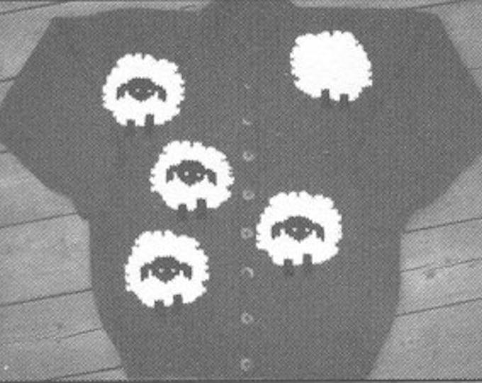 Lost Sheep adult cardigan sweater pattern