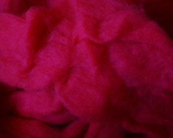 Orchid wool kettle dyed roving from our American farm free shipping offer